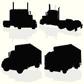 truck black silhouette