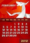 Origami dragon Calendar 2012