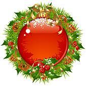 Christmas vector frame 14