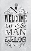 Poster Barbershop welcome coal