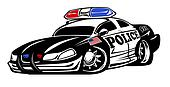 Police Car Cartoon Illustration