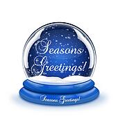 Seasons Greetings Snow Globe