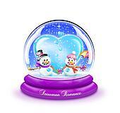 Snowman Love Snow Globe