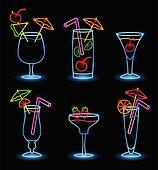 Neon Tropical Drinks