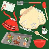 Making and Baking Christmas Cookies