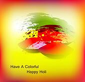 abstract bright colorful holi card festival background vector
