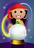 gypsy with crystal ball