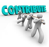 Contribute 3d Word Pulled Up by Team Giving Sharing Contribution