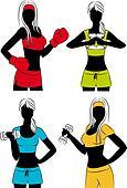 beautiful fitness girls