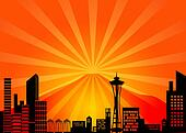 Seattle Washington City Skyline