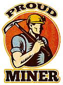 coal miner pick axe retro