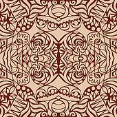 Brown art deco seamless pattern