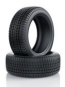High detaled winter tyres isolated