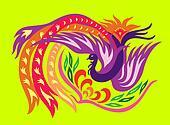 Phoenix with flower