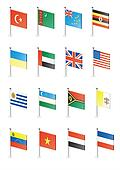 Flag icon set (part 12)