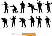 screwdriver silhouettes