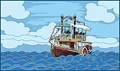 ship (paddle-boat)