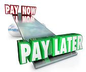 Pay Now Vs Later Delay Payments Borrow Credit Installment Plan