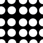 black background white polka dots