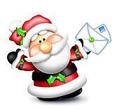 Gumdrop Santa Holding Letters