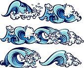 Crashing Water Waves Illustration