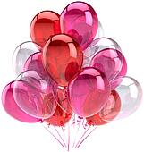 Romantic party balloons decoration