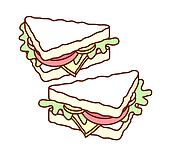 A pair of sandwich