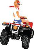 Girl riding quad