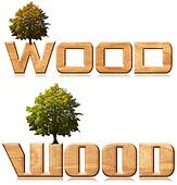 "Two words ""wood"" in wood carving wi"