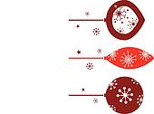 Elegant christmas balls decoration in retro style. Vector Illustration