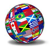 World flags sphere