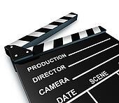 Black clap board movies symbol