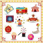 Funy circus icons