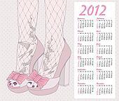 2012nfashion shoes calendar