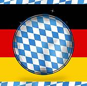 bavaria Oktoberfest germany round design