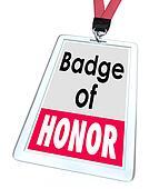 Badge of Honor Words Employee Pride Proud Distinction