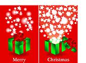 Before and after gift Christmas card