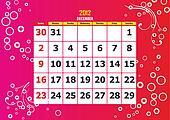 2012 Calendar Set December
