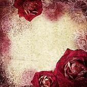 background in grunge style with flowers