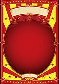 circus red and yellow poster