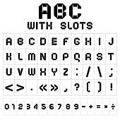 Font with slots