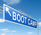Boot camp concept.