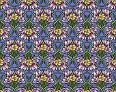 art nouveau spring flowers