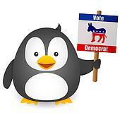 Penguin Vote for Democrat