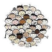 Crowd Clip Art - Royalty Free - GoGraph