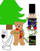 Nutcracker and Teddy Bear
