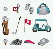 cartoon golf icon