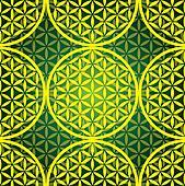 eps10 flower of life seamless pattern - illustration