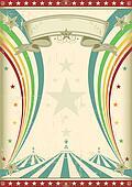 rainbow circus vintage poster