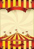 red and yellow Top circus poster